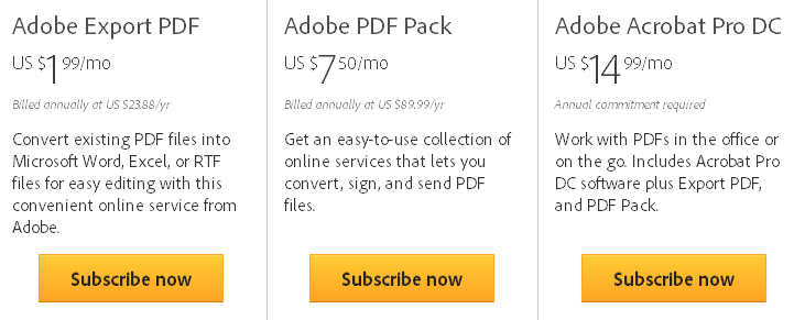 Adobe Pay per Use