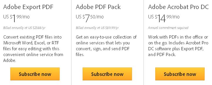 Adobe Pay per Use